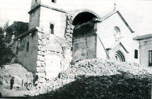El Templo destruido por el incendio de 1936