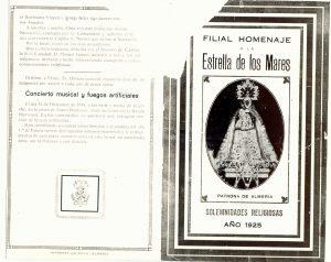 Programa fiestas Aparición, enero 1925